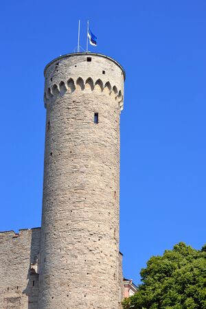 Toompea tower in summer day. Tallinn, Estonia. Editorial