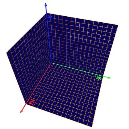 axis: Eje de las coordenadas, tres aviones de una proyecci�n