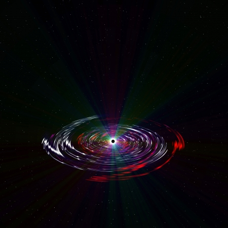Black Hole in deep space, 2d illustration Stock Illustration - 21994238