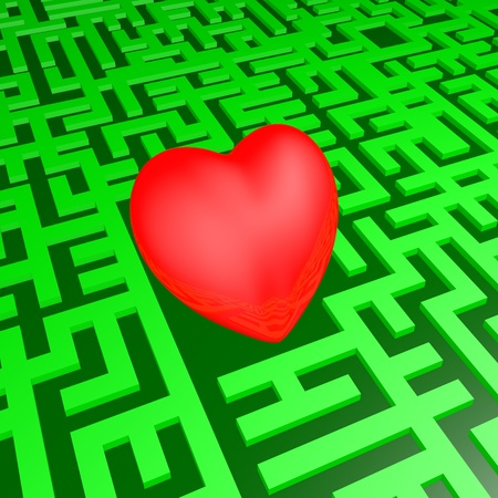 Heart in the green labyrinth photo