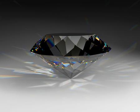 gemstone on the gray background, 3d illustration