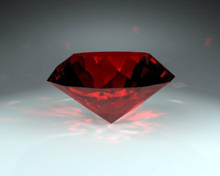 ruby gemstone: Red gemstone, ruby stone on the dark background