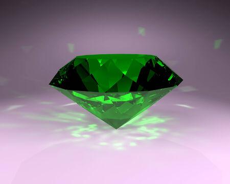 emerald stone: Emerald - green gem stone, abstract illustration.