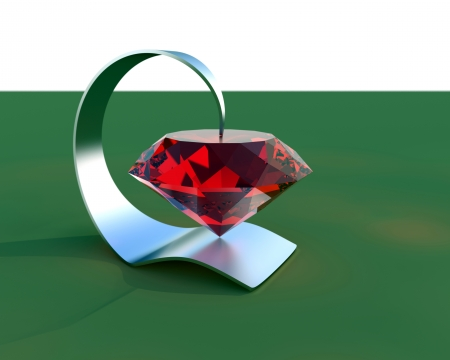 Abstract 3d Jewelry composition Stock Photo