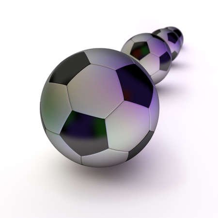 Soccer or football  balls, abstract background. Concept of sport. photo