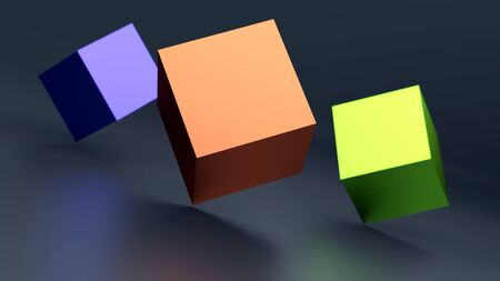 abstract background with 3d cubes. 3d illustration.