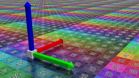3D-Achsen-Hintergrund, Abbildung der Technologie-Konzept koordinieren