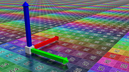 coordinate: 3d coordinate axis background, illustration of technology concept