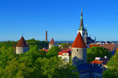Tallinn view old town. Estonia