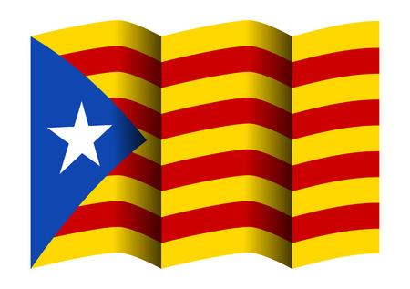 Catalonia flag illustration. Illustration