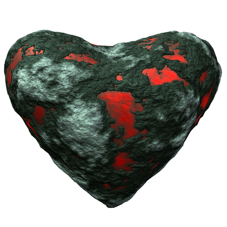 Petrous Heart illustration Stock Photo