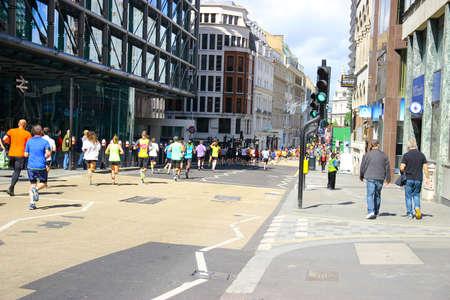 Running In A Marathon In London Editorial