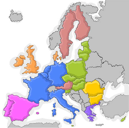 states inside de European Union Stock Vector - 11073487