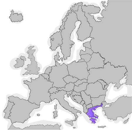 adherence: countries that joined the European Union in 1981 Illustration