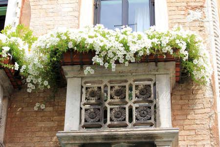 window in Venice Stock Photo