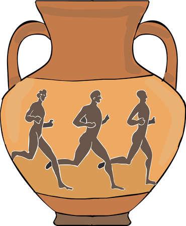 Greek amphora Illustration