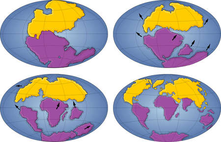 triassic: evolution of Earth 205 millions years ago to today
