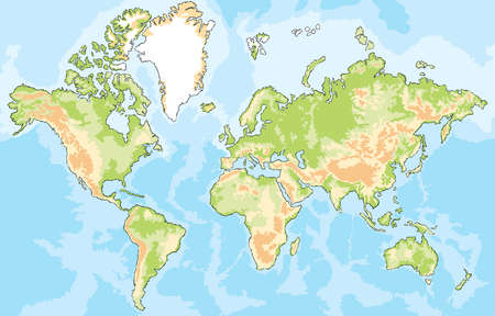 world map with oceans