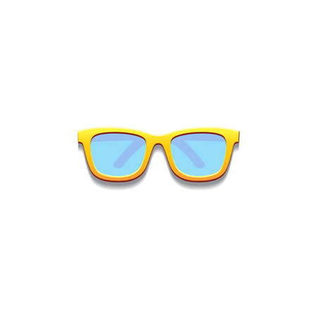 Realistic sun glasses from top view, vector illustration Stockfoto