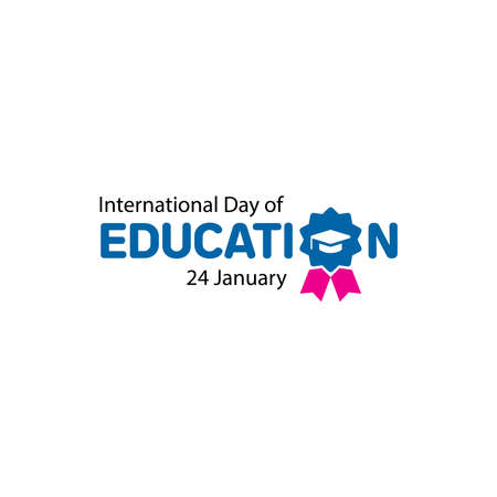 International Day of Education Celebration Vector Template Design Illustration. January 24th. Ilustração