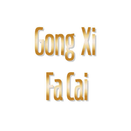 Gong xi fa cai, Happy chinese new year 2020 greeting . in english translated : to become rich or to make money, or wishing you to be prosperous in the coming year Ilustração