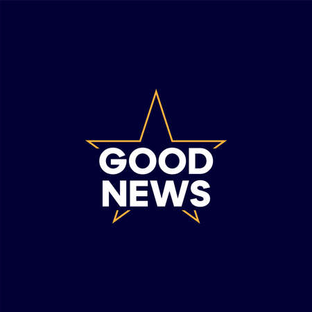 Good news colorful text. Vector illustration, a design about good news concept