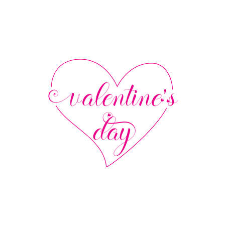 Valentines day background with heart pattern and typography of happy valentines day text . Vector illustration. Wallpaper, invitation, posters, brochure, banners. pink color