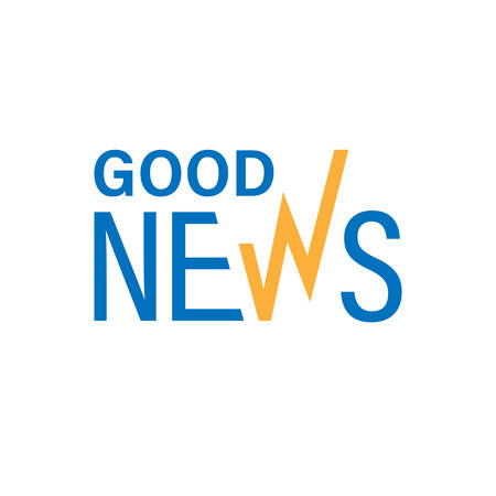 Good news colorful text. Vector illustration, a design about good news concept Иллюстрация