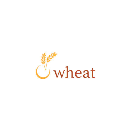Wheat or barley ears. Harvest wheat grain, growth rice stalk and whole bread grains or field cereal nutritious rye grained agriculture products ear symbol. laurel vector icon. Isolated vector icon Illustration