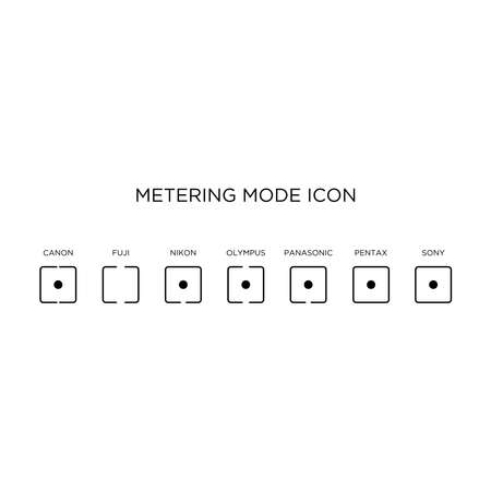Metering mode icon by manufacture vector