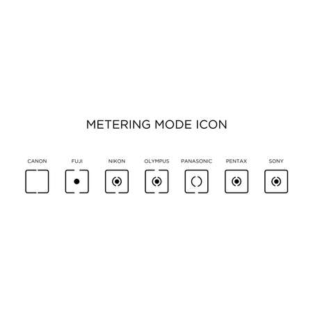Metering mode icon by manufacture vector Vektorové ilustrace