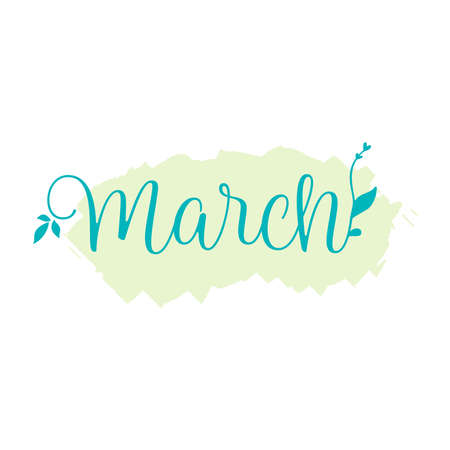 Quote about march month, spring time quote. Perfect design for greeting cards, posters, T-shirts, banners, print invitations, or any design Illustration
