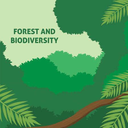 Design for celebrating International Day of Forest, march 21th in vector Illustration.