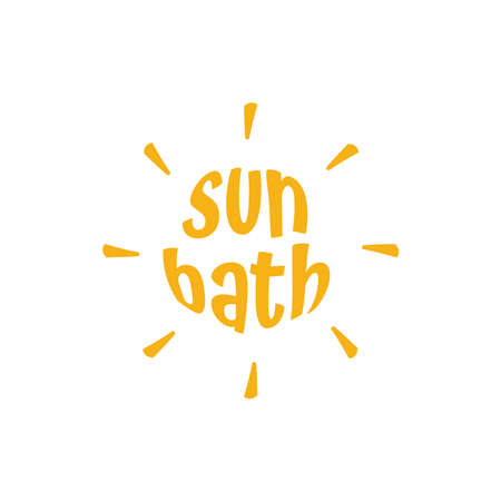 black sun bath isolated vector icon. simple element illustration from travel 2 concept vector icons. sun bath editable symbol design on white background. can be use for web and mobile