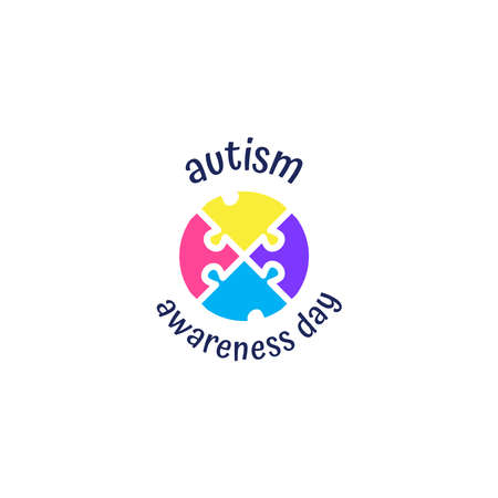 illustration,banner or poster of World autism awareness day. April 2th