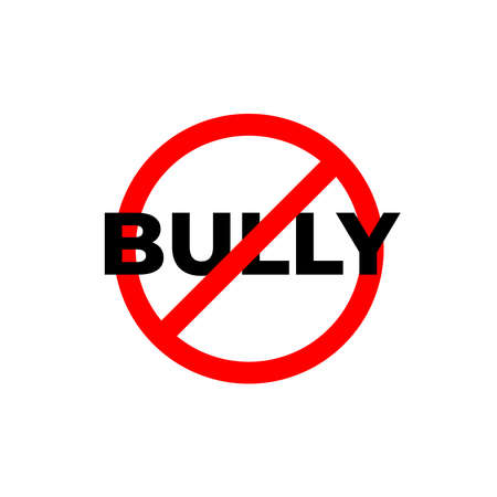 Stop Bullying sign for poster or infographic design in Vector Illustration.