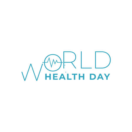 Design about world health day celebration with support nurses and midwives greeting concept in vector illustration