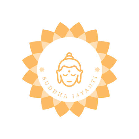 A Greeting Design About Happy Vesak Day or Buddha Jayanti or Birthday of the Buddha. Vesak is a holiday traditionally observed by Buddhists and some Hindus in South and Southeast Asia