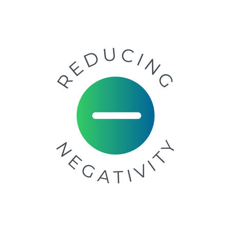 Reducing negativity icon. Mental Health Awareness Month in May. Annual campaign in United States. Raising awareness of mental health. Control and protection. Prevention campaign. Medical health care design.