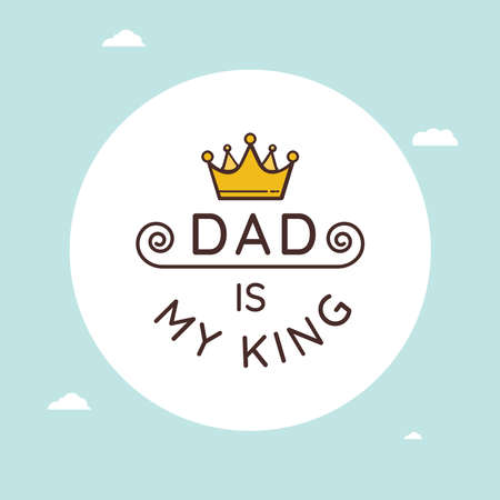 Design for celebrating Happy fathers day. Template for greeting card, Banner, flyer, invitation, congratulation, poster design. Vector illustration.
