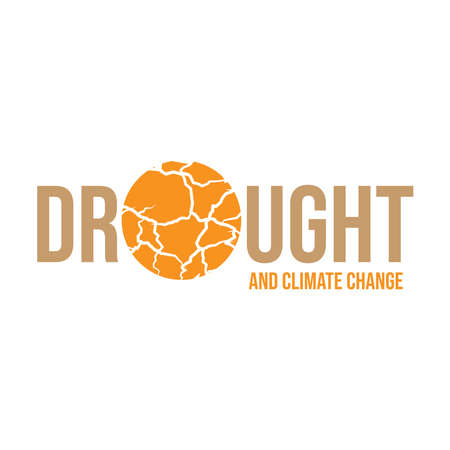Drought and climate change typography for World Day to Combat Desertification and Drought banner with Desert texture background vector design. 일러스트