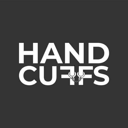 Logo design about handcuffs in white color