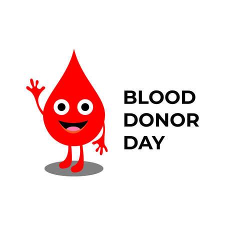 Creative Blood Donor Day motivation information donor poster . Blood Donation. World Blood Donor Day illustration Illusztráció