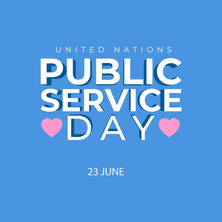 Illustration design about United Nations Public Service Day. Thank you public servant