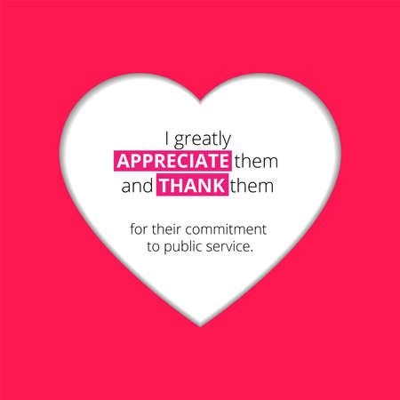 Illustration design about United Nations Public Service Day. Thank you public servant