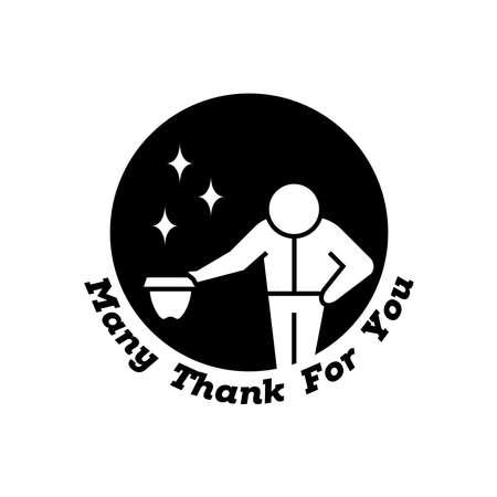 say thank you for appreciation in vector typography Vetores
