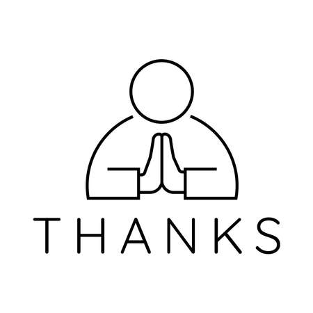 say thank you for appreciation in vector typography