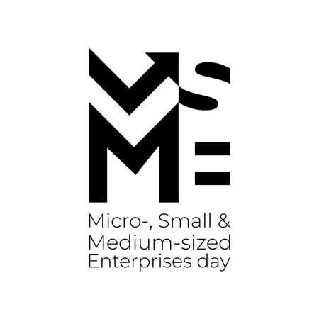 Design for Micro-, Small and Medium-sized Enterprises Day campaign to raise public awareness of their contribution to sustainable development. Ilustrace