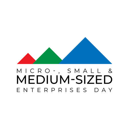 Design for Micro-, Small and Medium-sized Enterprises Day campaign to raise public awareness of their contribution to sustainable development. Illusztráció