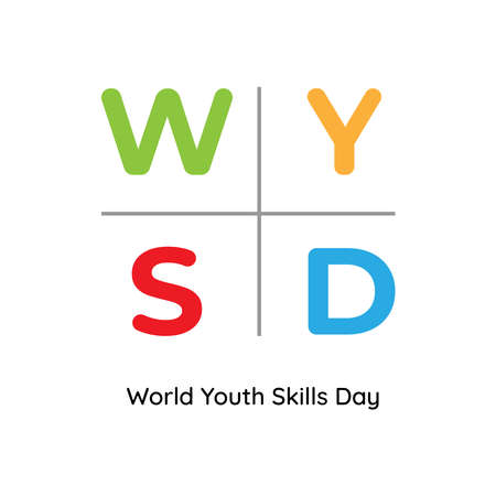 Design for celebrating World Youth Skills Day in Vector Illustration. 15 July